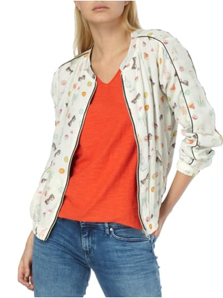 Frog Box Wende-Bomber mit Allover-Muster Offwhite - 1