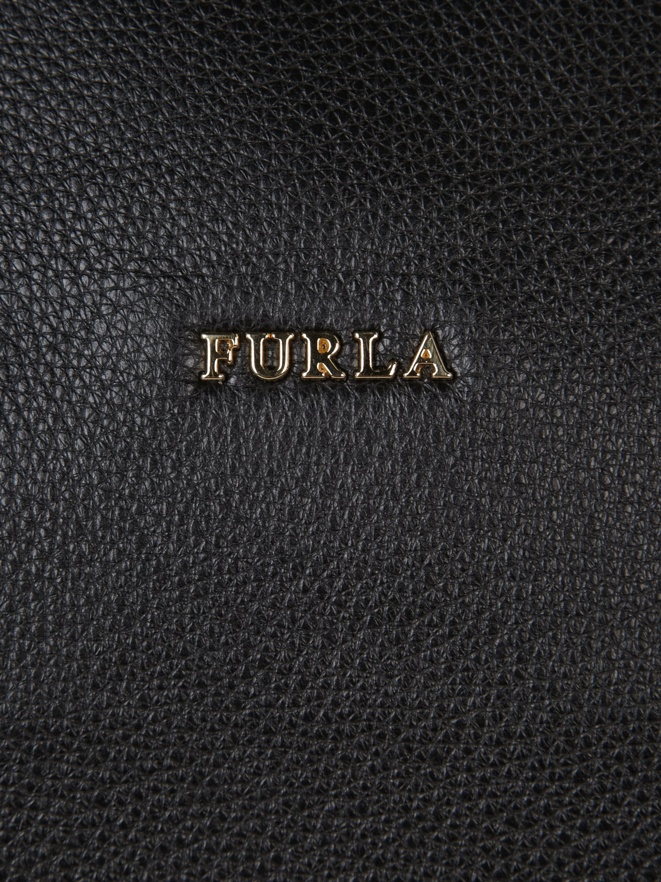 furla handtasche in trapez form in grau schwarz online. Black Bedroom Furniture Sets. Home Design Ideas