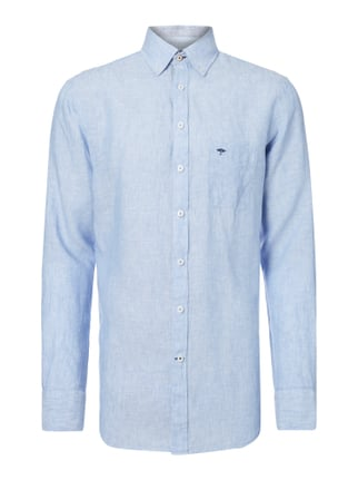 Casual Fit Freizeithemd mit Button-Down-Kragen Blau / Türkis - 1