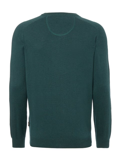 Fynch-Hatton Pullover aus Baumwoll-Woll-Mix Bottle meliert - 1