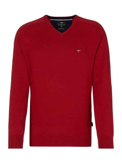 Pullover aus Baumwoll-Woll-Mix Rot - 1