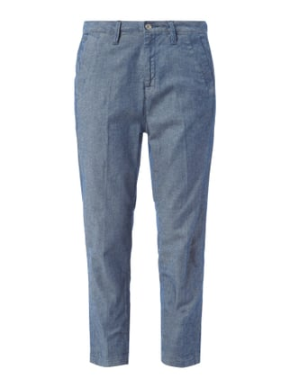 Boyfriend Fit Chino in Denimoptik Blau / Türkis - 1