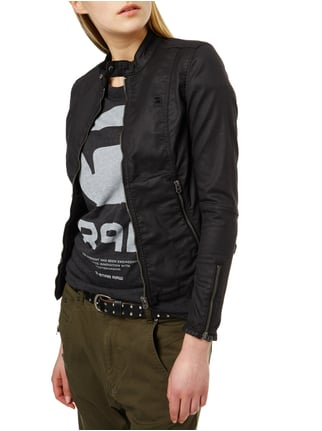 G-Star Raw Coated Jacke im Biker-Look Schwarz - 1