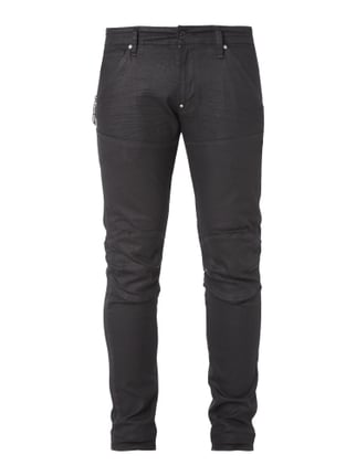 Coated Slim Fit 5-Pocket-Jeans Grau / Schwarz - 1