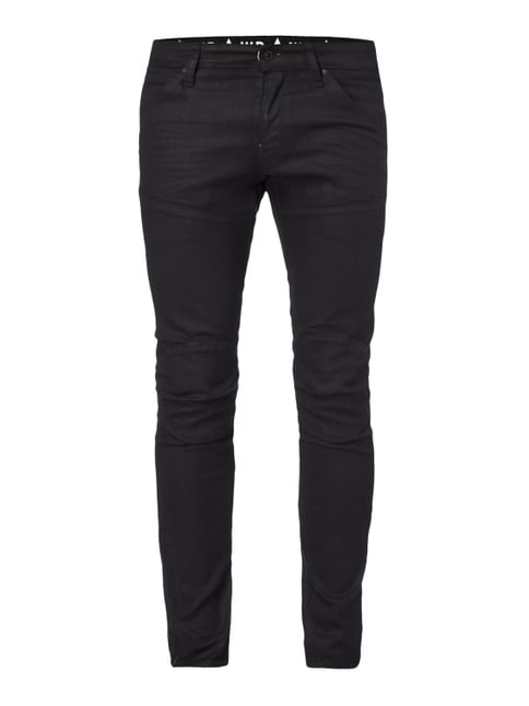 Coated Super Slim Fit 5-Pocket-Jeans Grau / Schwarz - 1