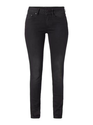 Coloured Skinny Fit 5-Pocket-Jeans Grau / Schwarz - 1