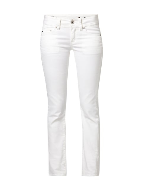 Coloured Straight Fit 5-Pocket-Jeans Weiß - 1