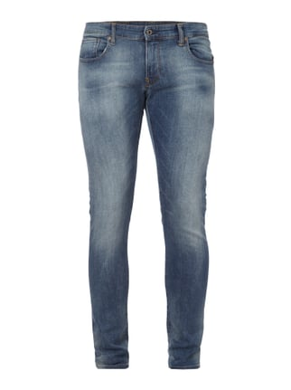 Double Stone Washed Super Slim Fit Jeans Blau / Türkis - 1