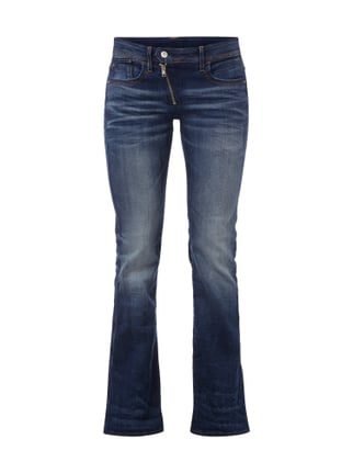 High Waist Jeans im Flared Cut Blau / Türkis - 1