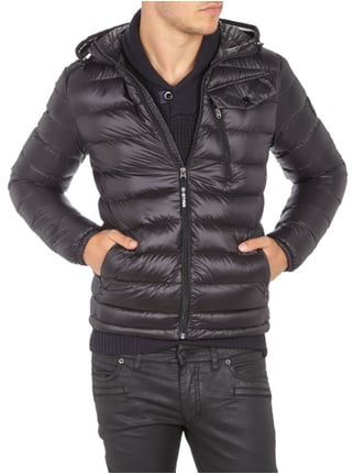 G-Star Raw Light-Daunen Steppjacke mit Kapuze Schwarz - 1