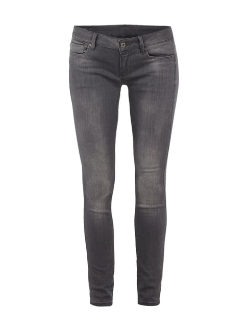 Light Stone Washed Super Skinny Fit Jeans Grau / Schwarz - 1