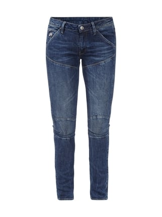 Mid Skinny Fit 5-Pocket-Jeans im Stone Washed-Look Blau / Türkis - 1