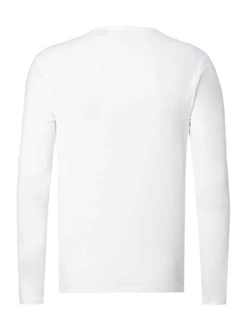 G-Star Raw Slim Fit Longsleeve mit Logo-Stickerei Weiß - 1