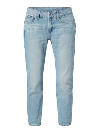 Stone Washed Boyfriend Fit Jeans Blau / Türkis - 1