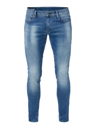 Stone Washed Super Slim Fit Jeans Blau / Türkis - 1