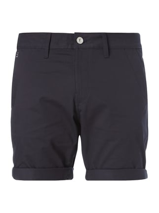 Straight Fit Bermudas mit Stretch-Anteil Blau / Türkis - 1