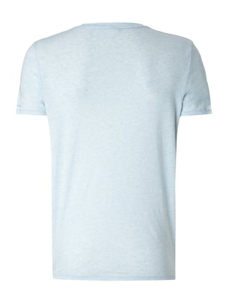 G-Star Raw T-Shirt mit Logo-Stickerei Blau meliert - 1