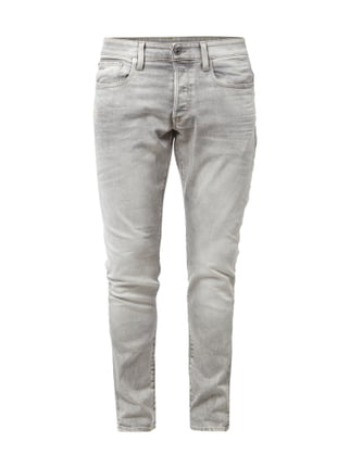 Tapered Fit 5-Pocket-Jeans im Stone Washed-Look Grau / Schwarz - 1