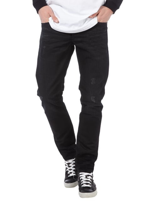 G-Star Raw Used Look Slim Fit Jeans Schwarz - 1