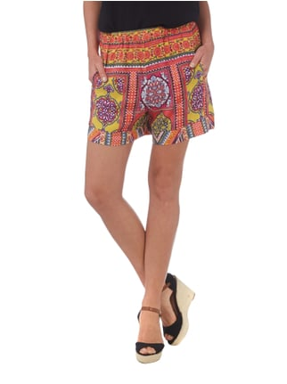 Ganesh Shorts mit Allover-Muster Rot - 1