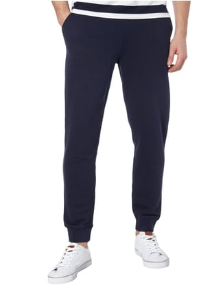 Gant Sweatpants in Melangeoptik Marineblau - 1