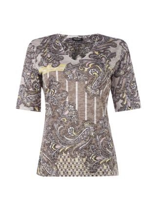 T-Shirt mit Paisleymuster Gelb - 1