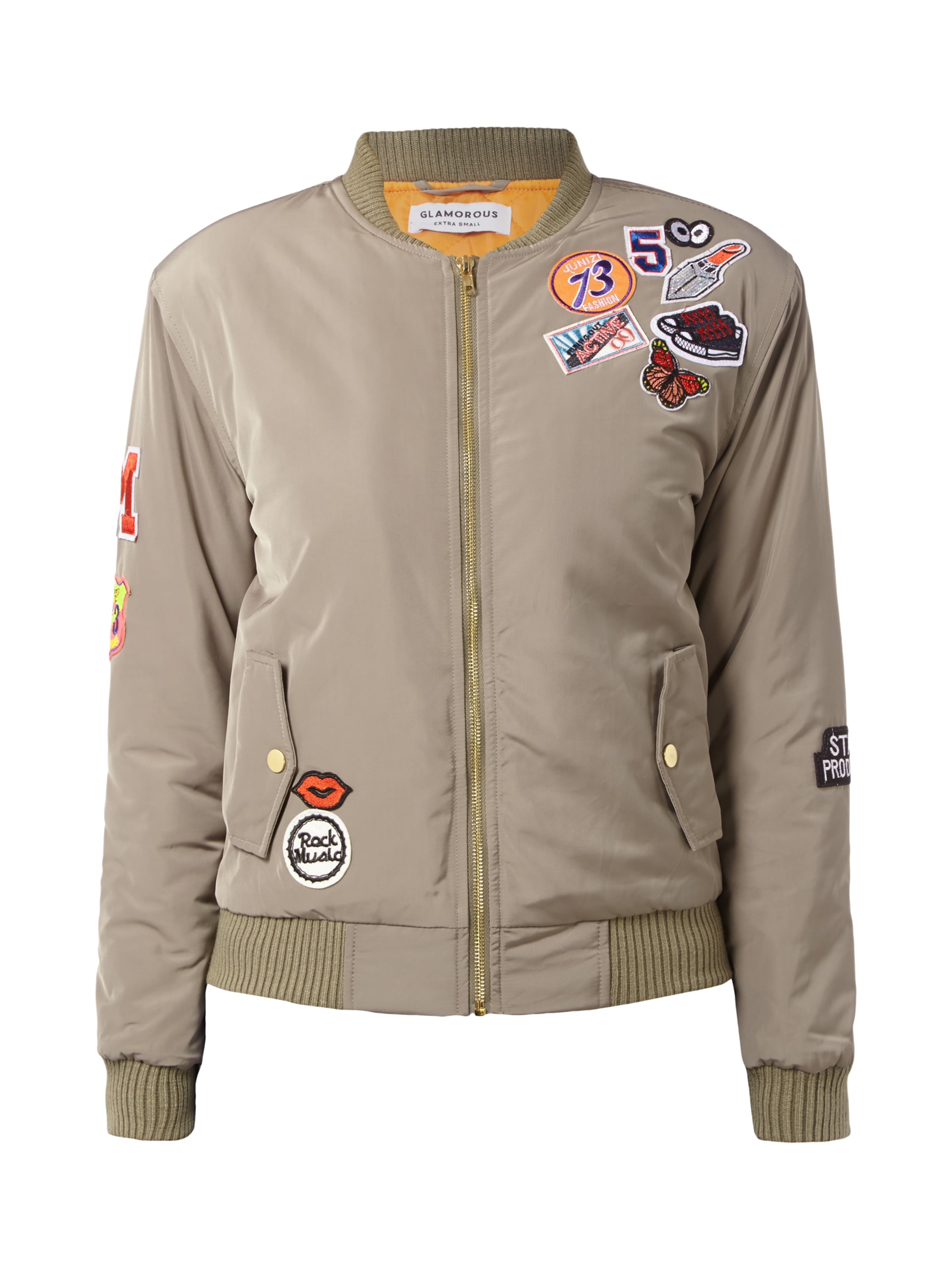 bomberjacke mit patches fashion id online shop. Black Bedroom Furniture Sets. Home Design Ideas