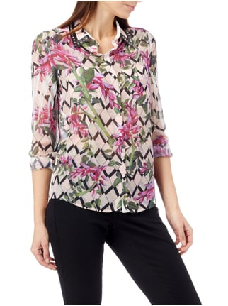 Guess Bluse mit floralem Allover-Muster Rosé - 1