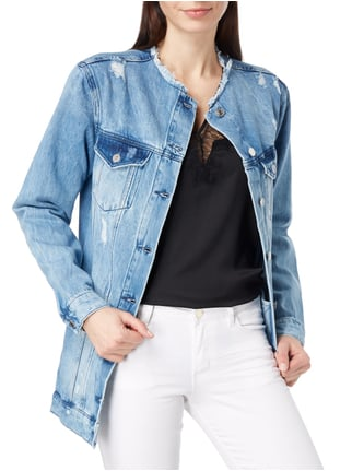 Guess Boyfriend Fit Jeansjacke im Destroyed Look Jeans - 1