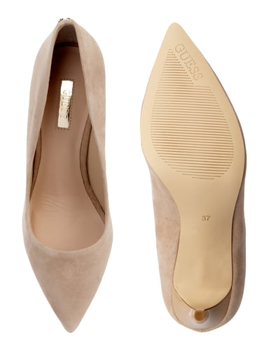 Guess Pumps aus echtem Veloursleder Sand - 1