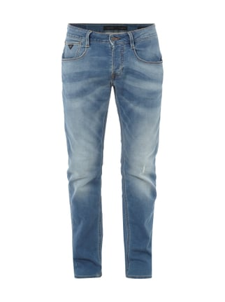 Slim Fit Jeans aus Sweat-Denim Blau / Türkis - 1