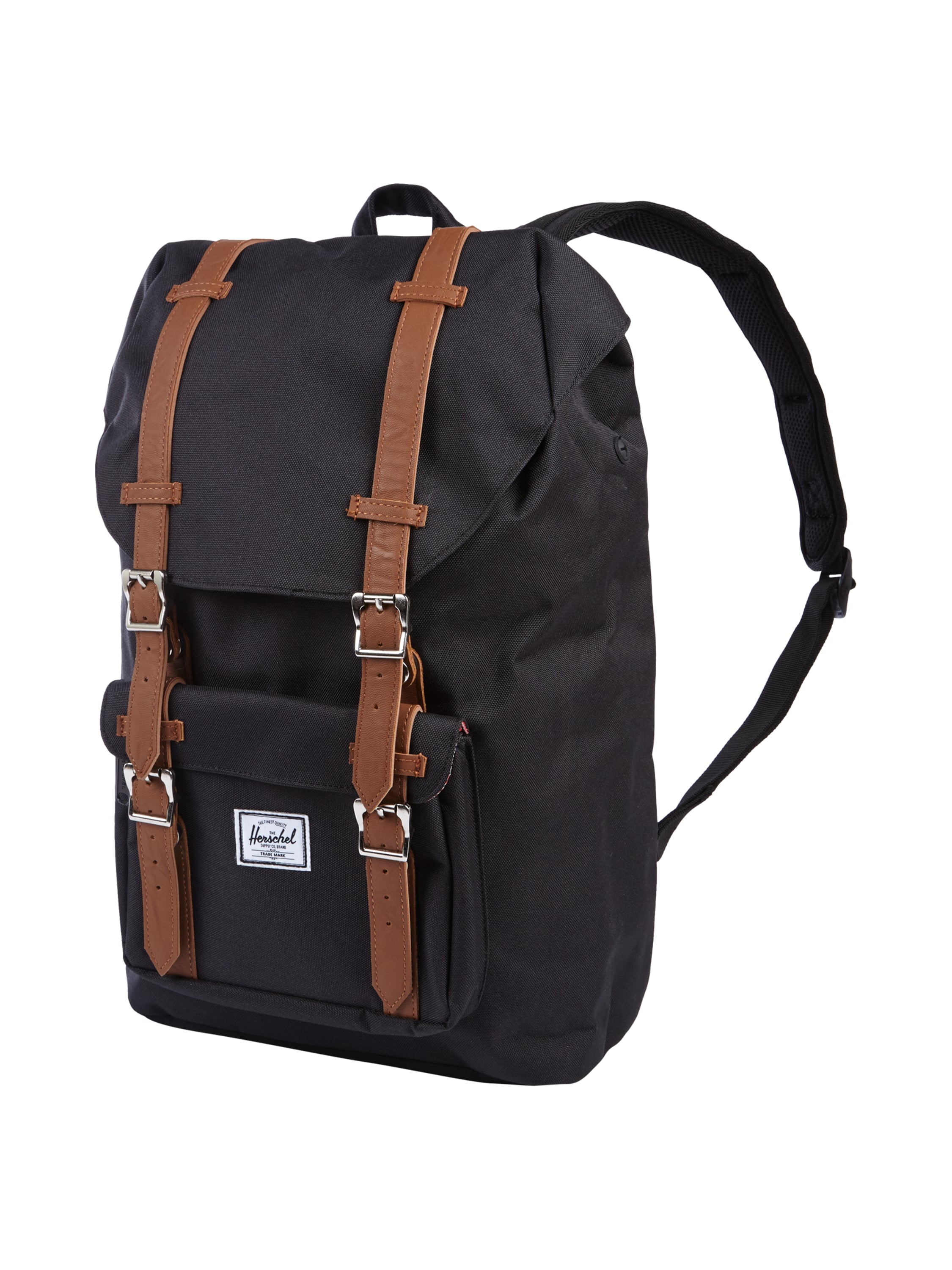 herschel rucksack mit laptopfach in grau schwarz online kaufen 9514254 p c online shop. Black Bedroom Furniture Sets. Home Design Ideas