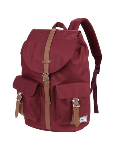 herschel rucksack mit riemen in lederoptik in rot online kaufen 9411279 p c online shop. Black Bedroom Furniture Sets. Home Design Ideas