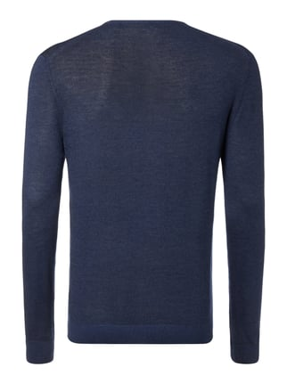 Paul Rosen Men Pullover aus Kaschmir-Seide-Mix Marineblau - 1