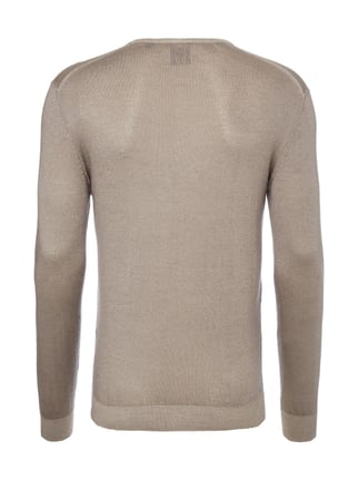 Paul Rosen Men Pullover aus Kaschmir-Seide-Mix Sand - 1