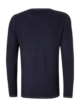Paul Rosen Men Pullover mit Webstruktur Marineblau - 1