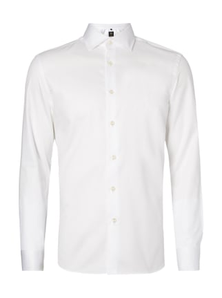 Regular Fit Business-Hemd mit Button-Down-Kragen Weiß - 1