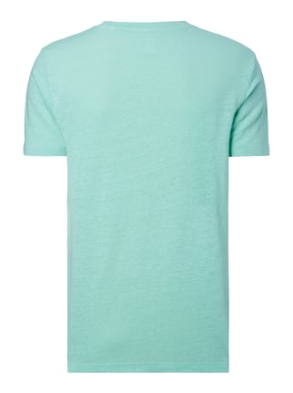 Paul Rosen Men T-Shirt aus Leinen mit Stretch-Anteil Hellgrün - 1