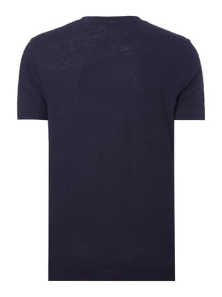 Paul Rosen Men T-Shirt aus Leinen mit Stretch-Anteil Marineblau - 1
