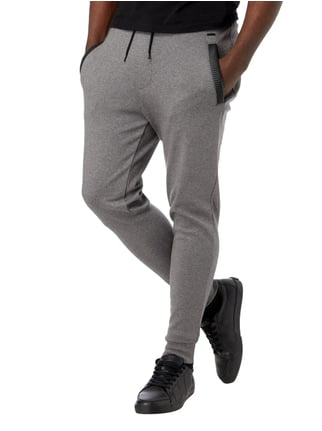 Hugo Regular Fit Sweatpants mit Kontrastbesatz Hellgrau - 1