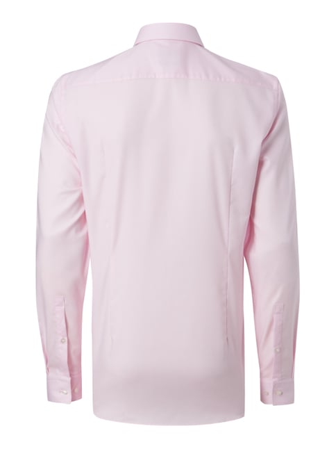 Hugo Slim Fit Business-Hemd mit Webstruktur Rosa - 1