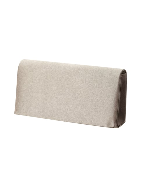Clutch aus Satin Braun - 1