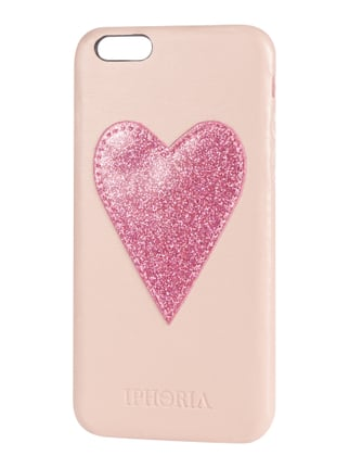 iPhone Case mit Herz-Applikation Rosé - 1