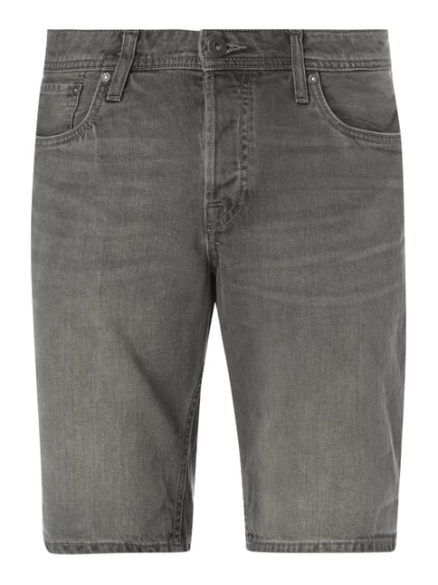 Coloured Regular Fit Jeansbermudas Grau / Schwarz - 1