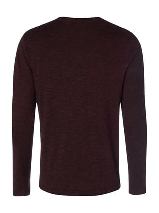 Jack & Jones Pullover in Melangeoptik Bordeaux Rot meliert - 1