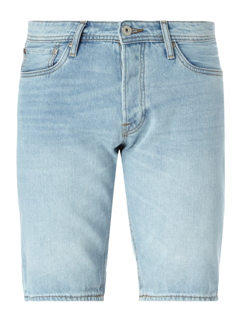 Stone Washed Regular Fit Jeansbermudas Blau / Türkis - 1