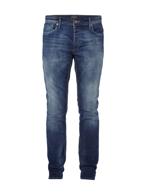 Used Look Slim Fit Jeans Blau / Türkis - 1