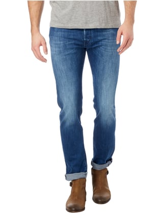 Jacob Cohen Regular Fit Stone Washed Jeans mit Knopfleiste Jeans - 1