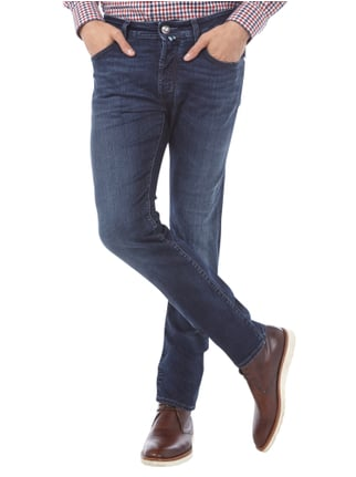Jacob Cohen Stone Washed Jeans inklusive Halstuch Dunkelblau - 1