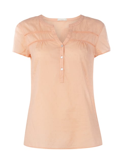 Blusenshirt mit eingesticktem Allover-Muster Orange - 1
